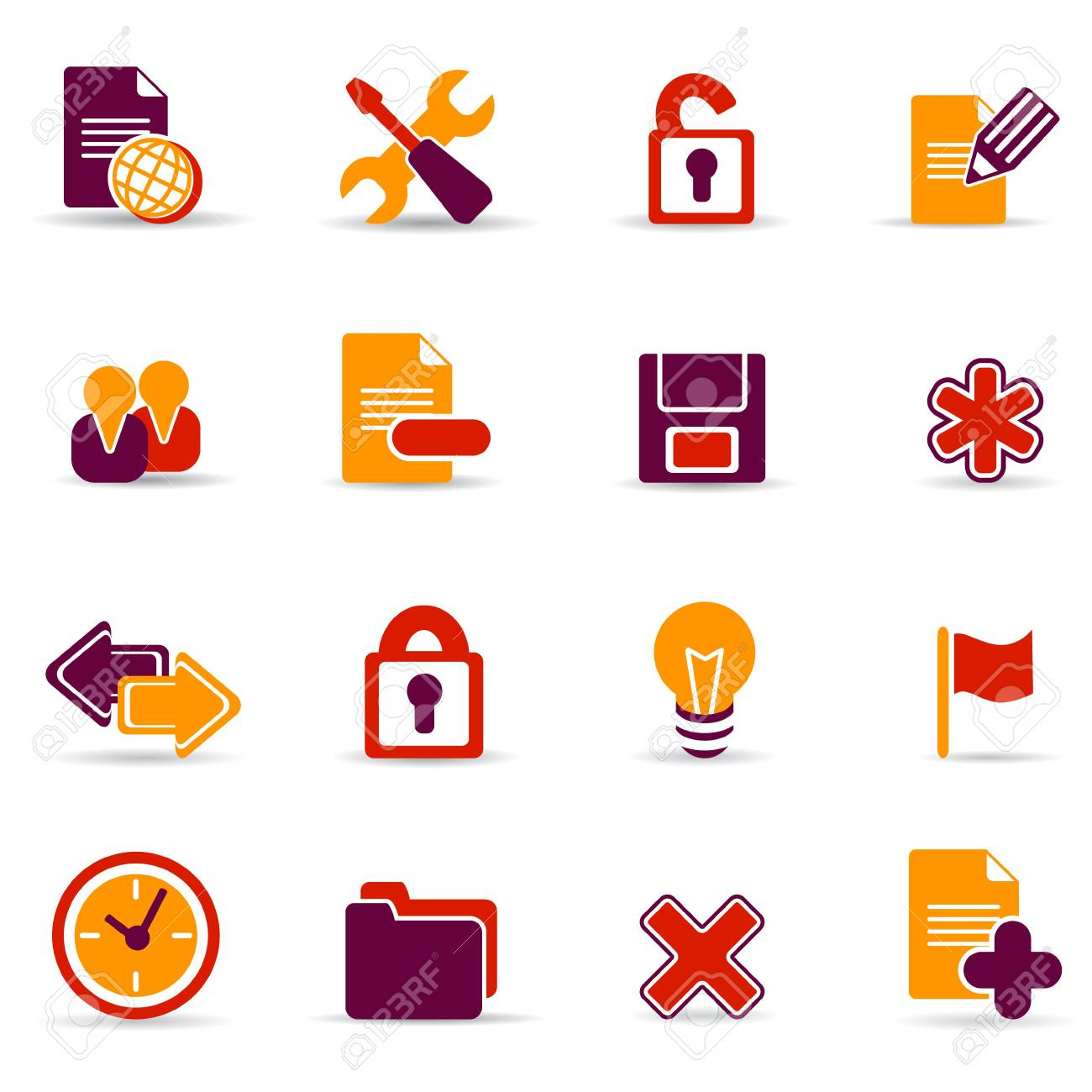 web icons Stock Vector - 6722219