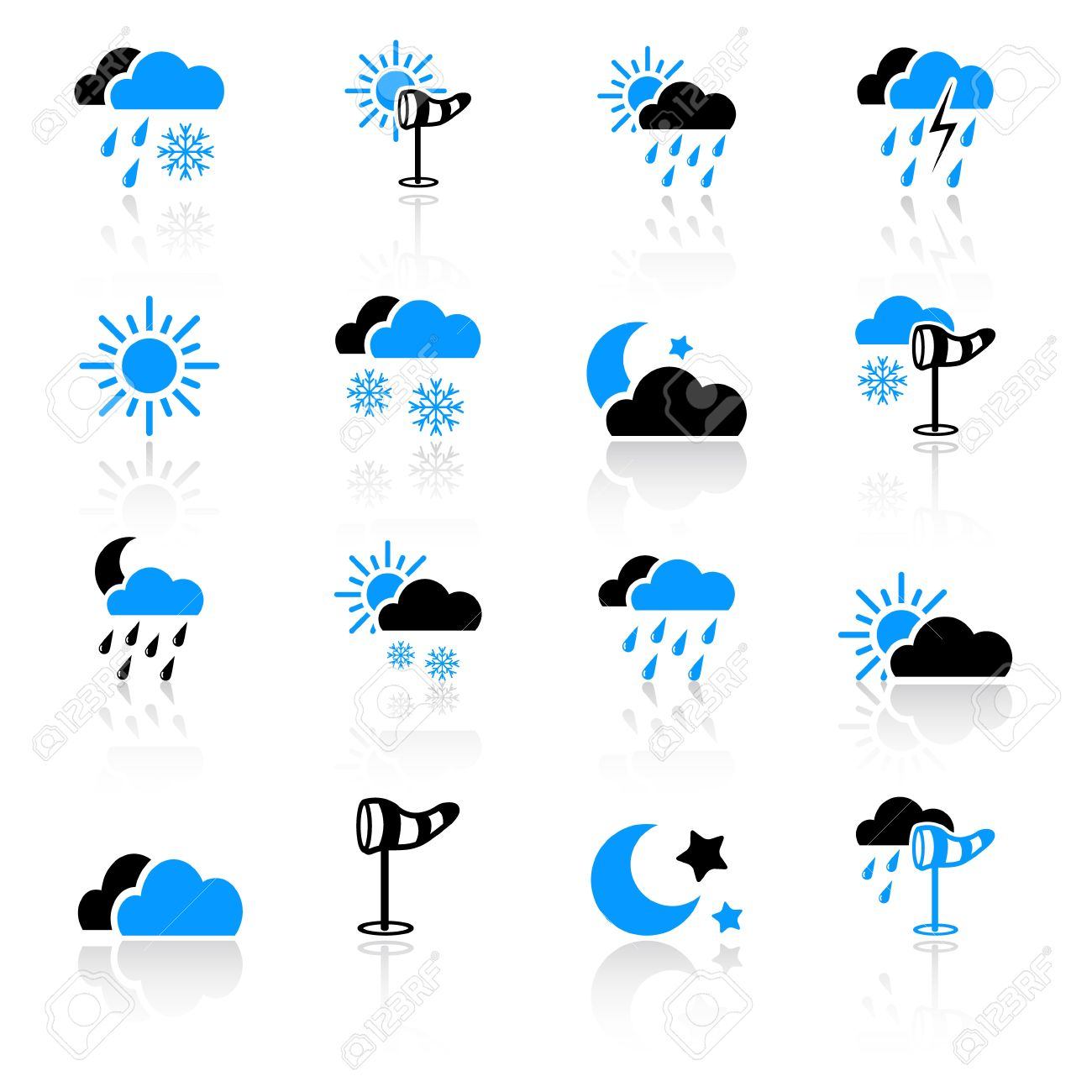 Weather icons Stock Vector - 10092570