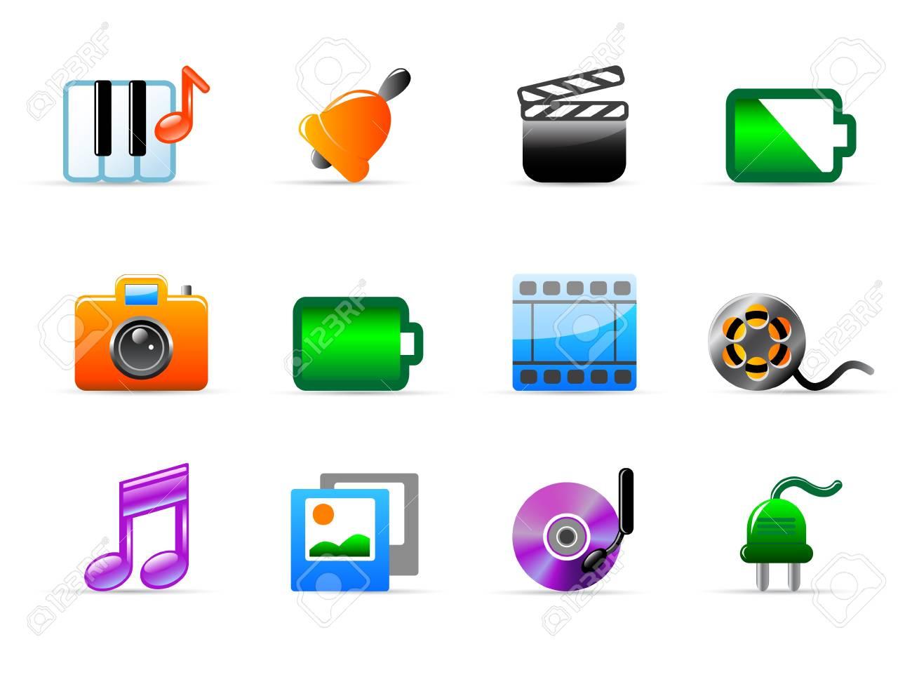 media icons Stock Vector - 11454066
