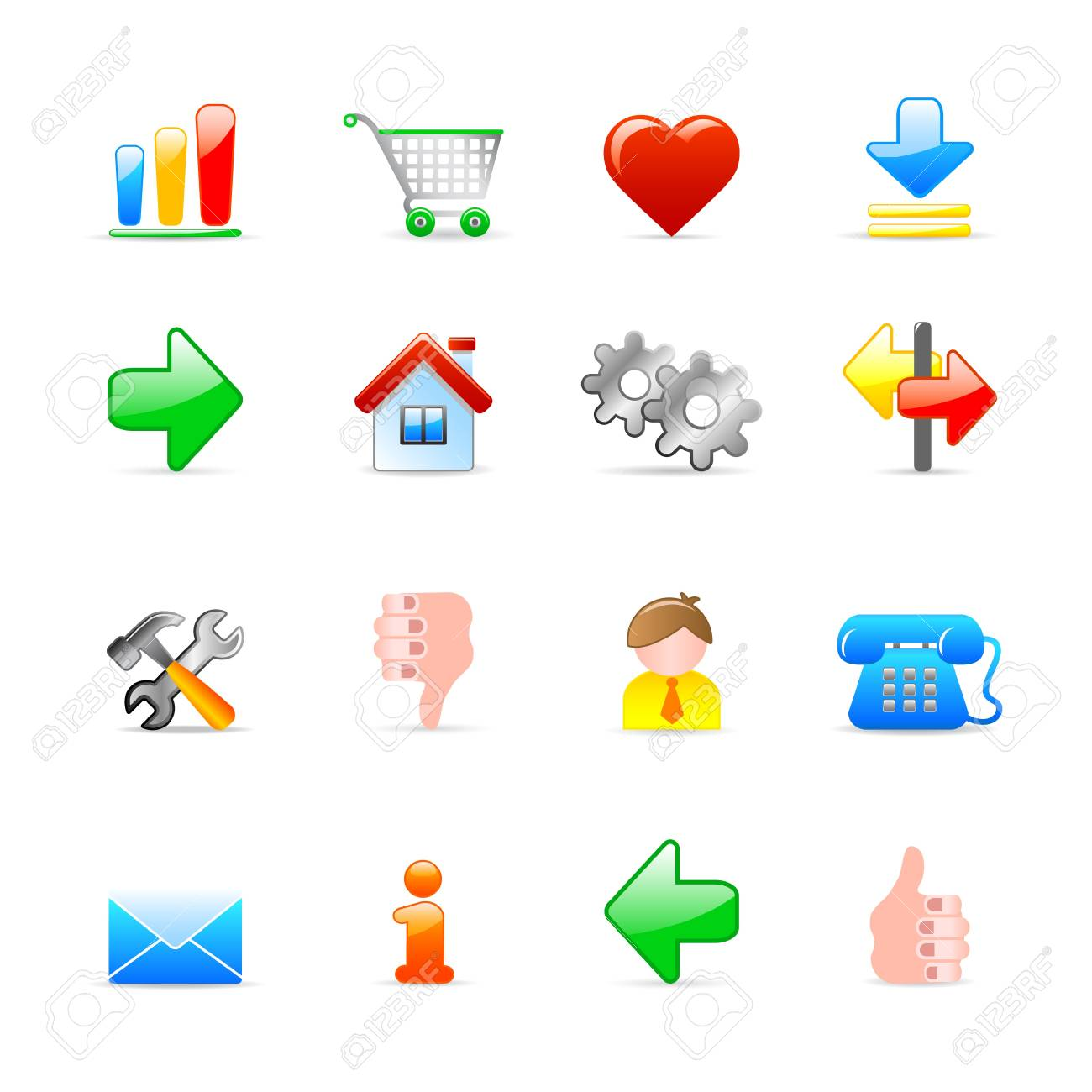 web icons Stock Vector - 11454033