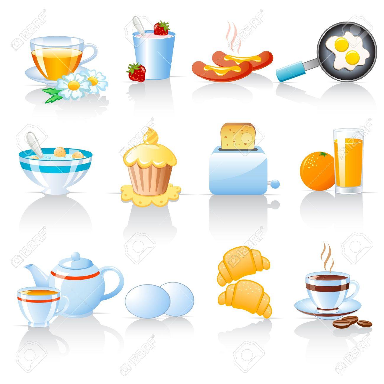 Breakfast icons Stock Vector - 12029434