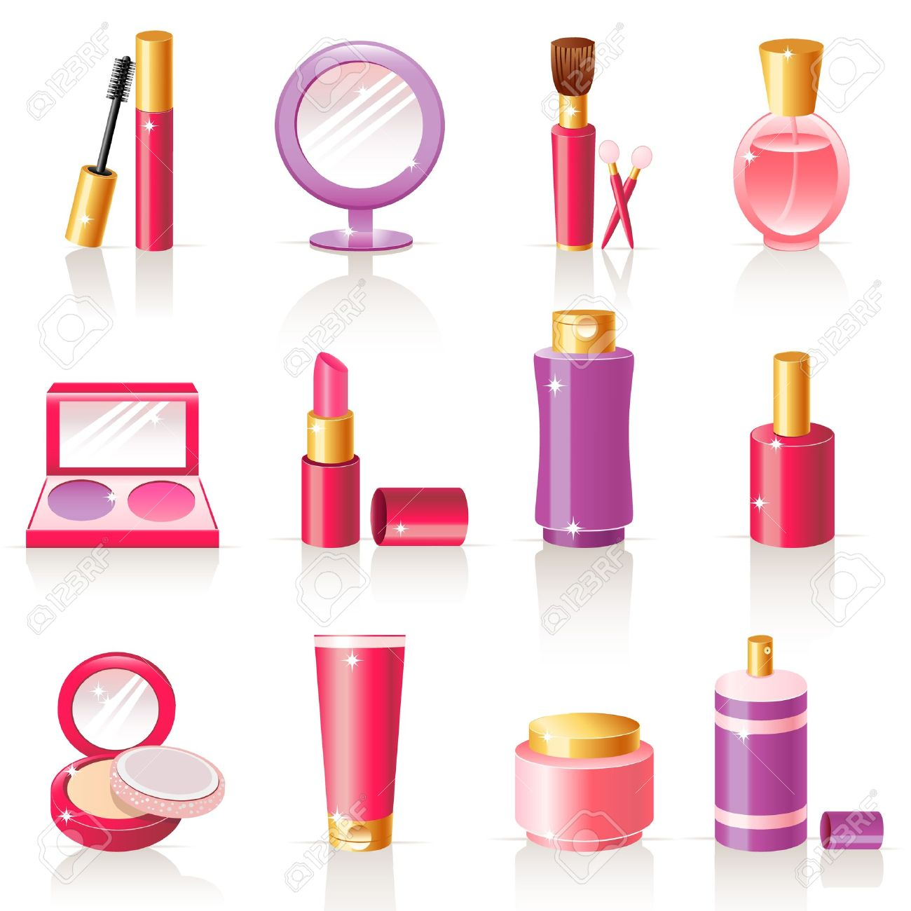 cosmetic icons Stock Vector - 12029440