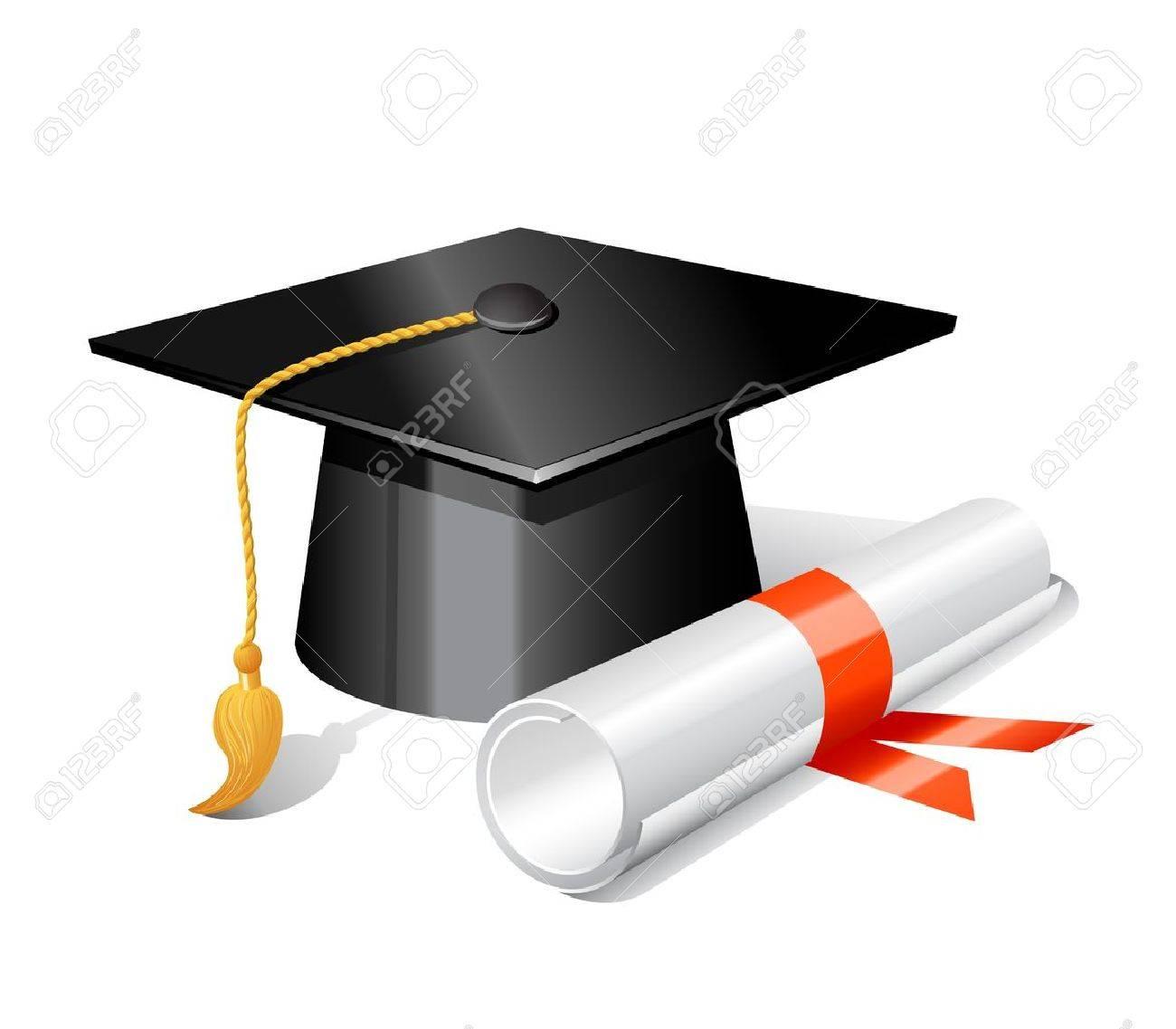 Free coloring pages graduation caps - Graduation Cap Graduation Cap And Diploma