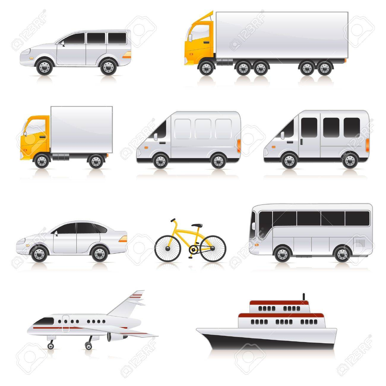 transport icons Stock Vector - 12489400