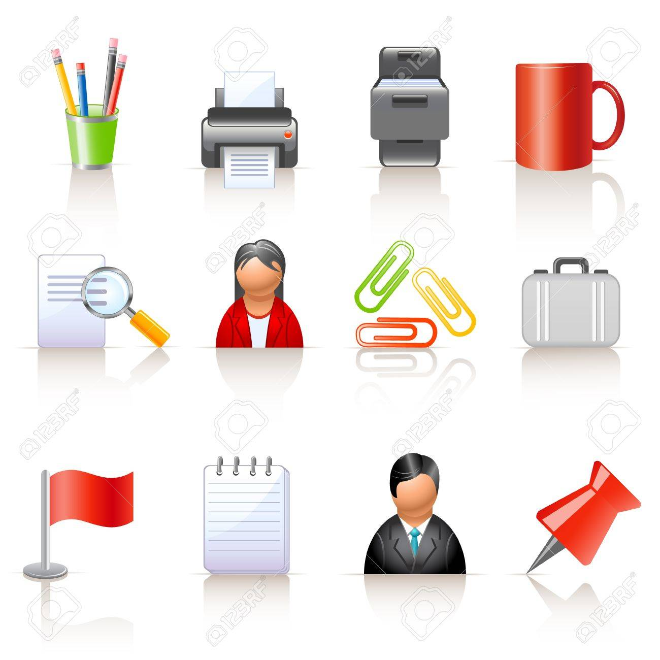 Office and business icons Stock Vector - 14065103