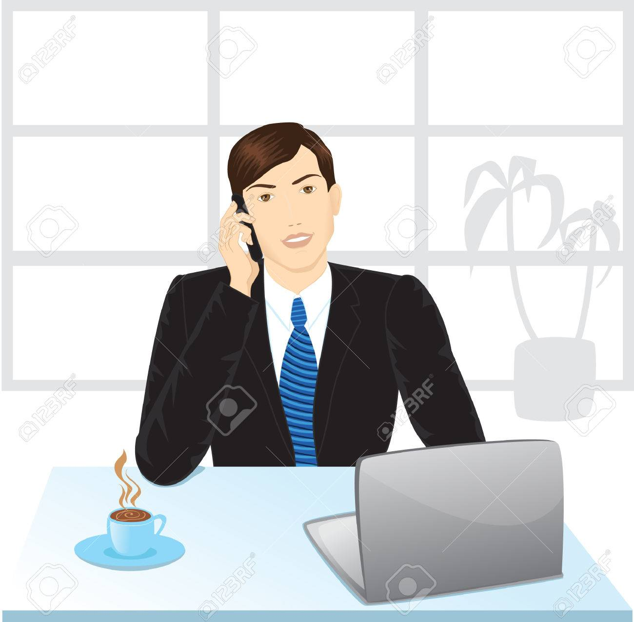 office manager Stock Vector - 6317371