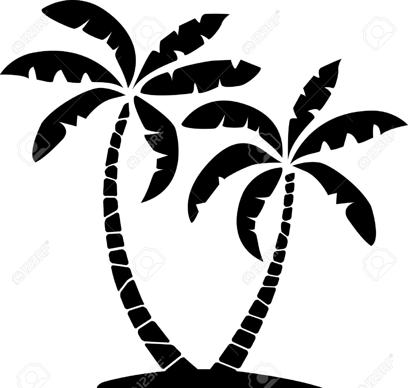 Palm Trees Silhouette Palm Tree Silhouettes of