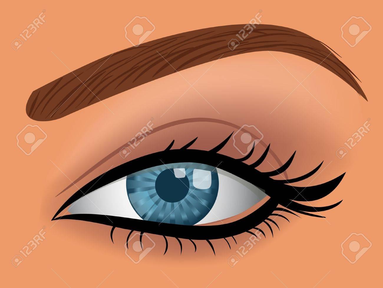 vector woman blue eye Stock Vector - 7871603