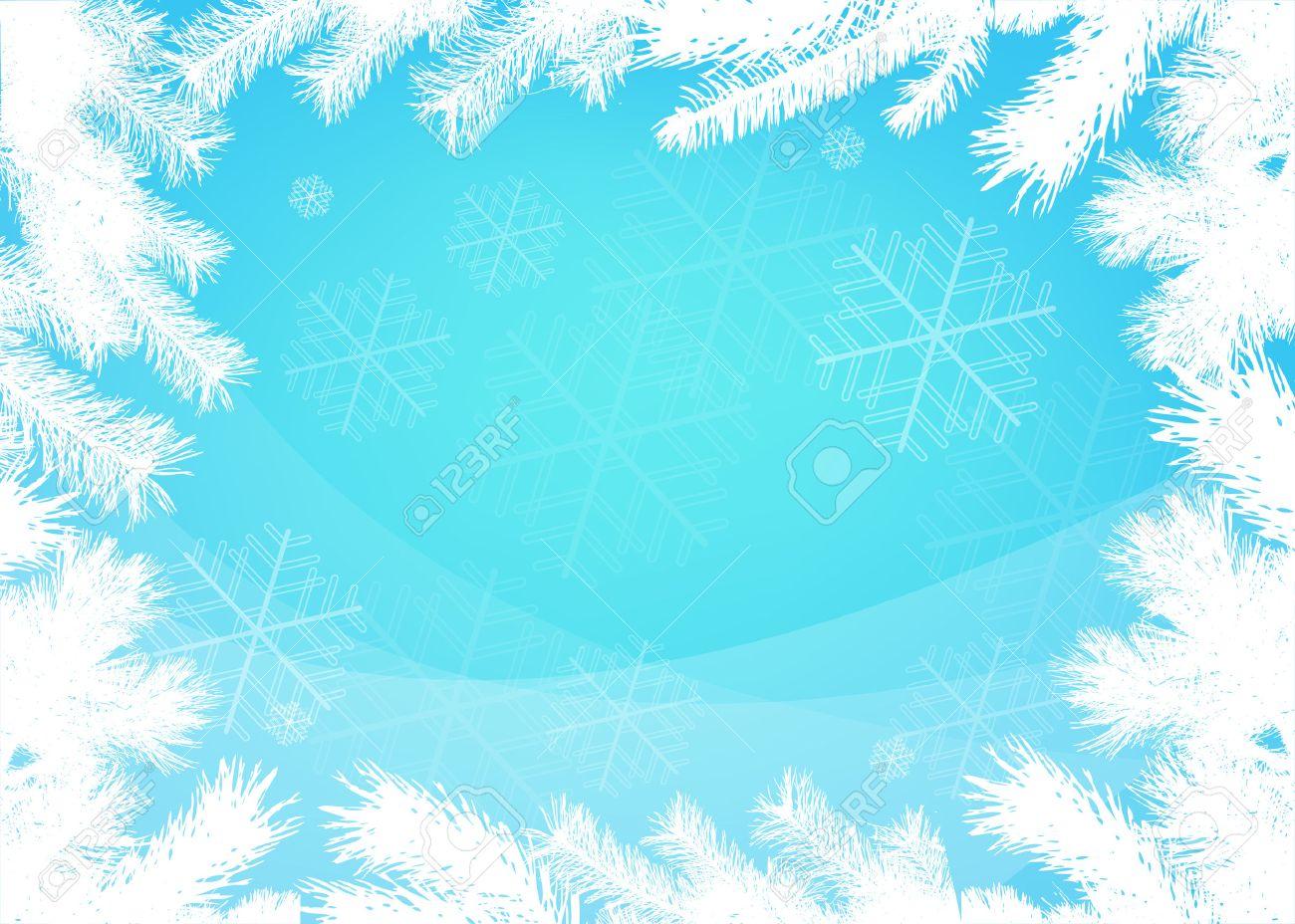 Winter christmas  vector border background Stock Vector - 8002230