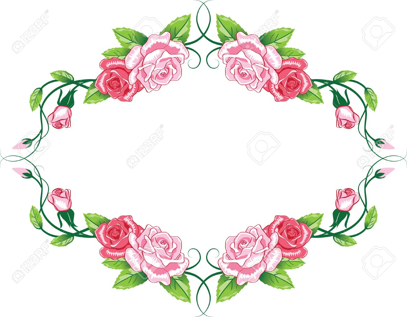 Greeting floral rose card.  color illustration Stock Vector - 8250002