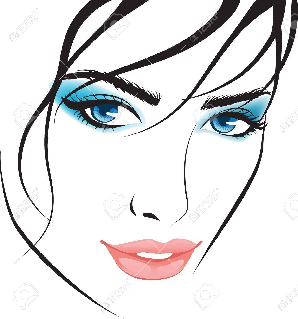 beauty girl face. design elements Stock Vector - 8340855
