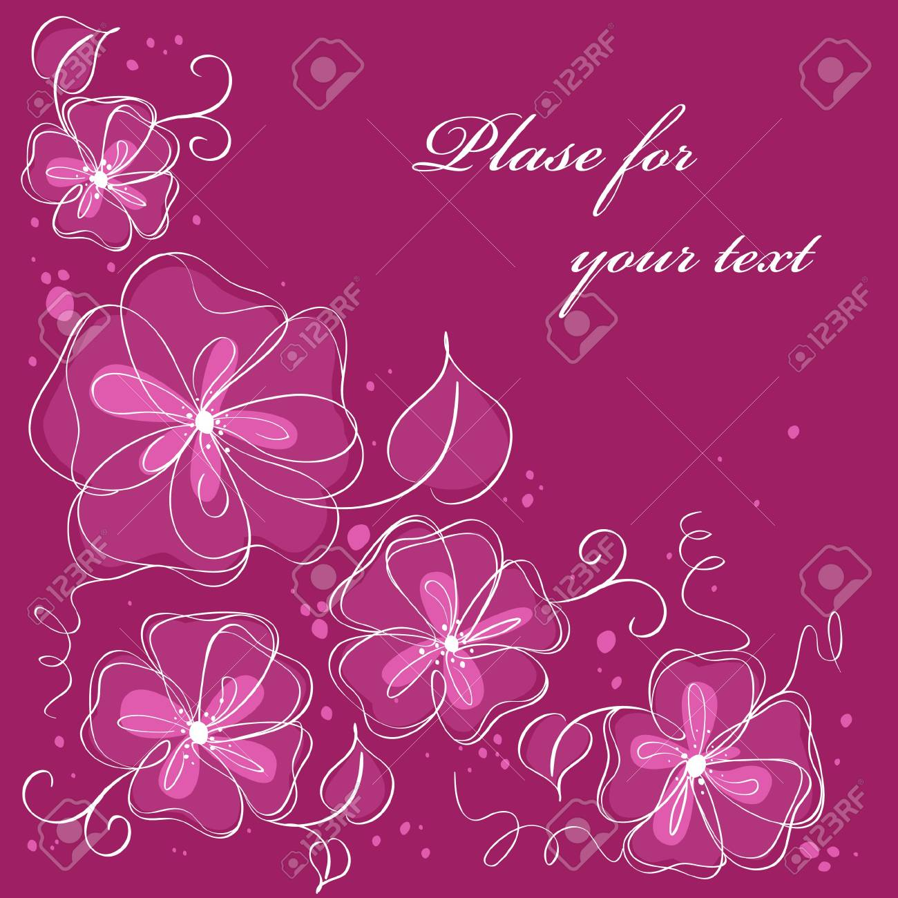 Cute floral background Stock Vector - 8657511