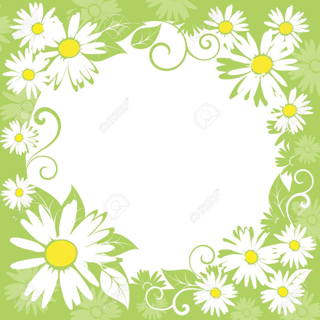 funny spring floral border. Stock Vector - 9295325