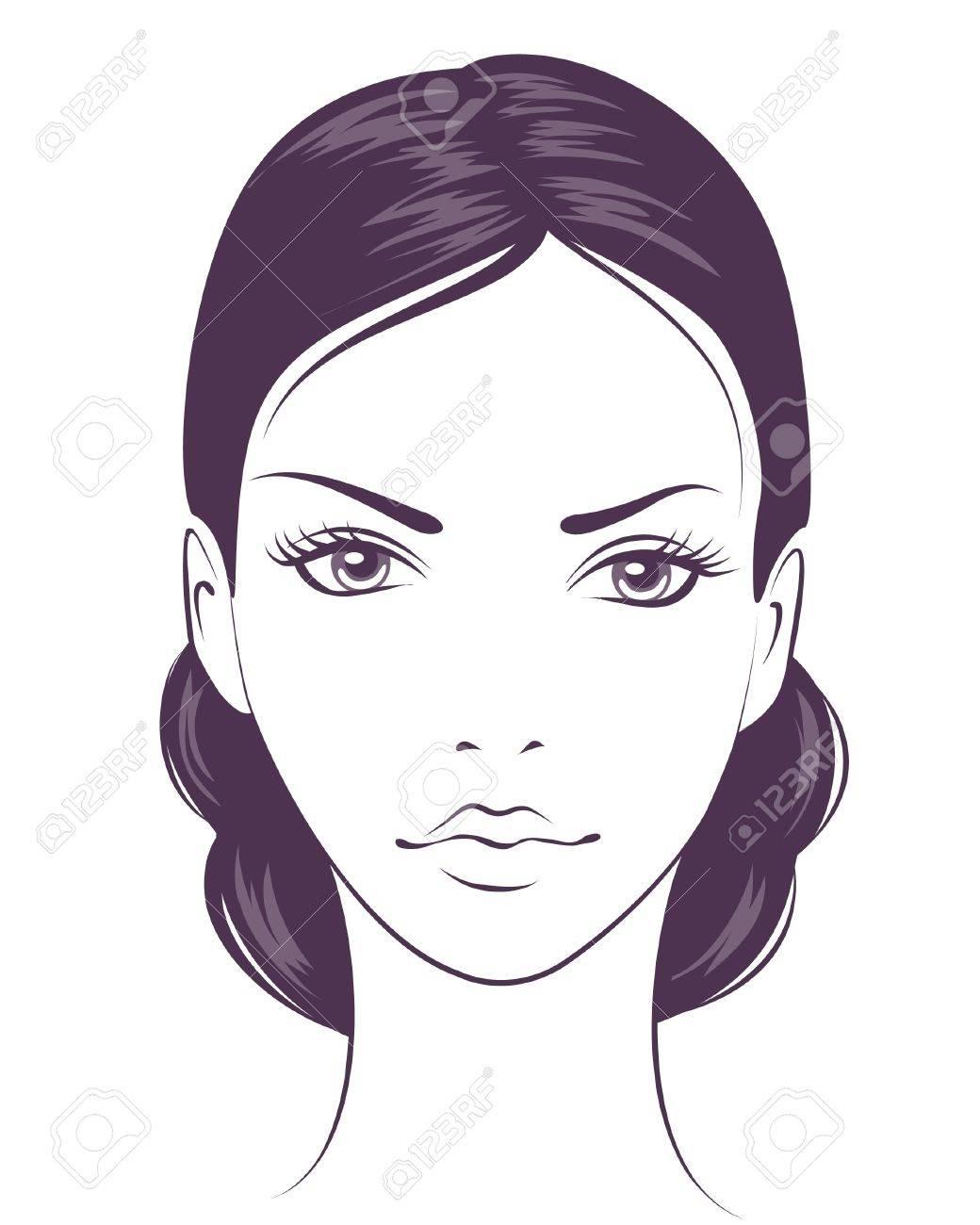 beauty face girl. Stock Vector - 9295322