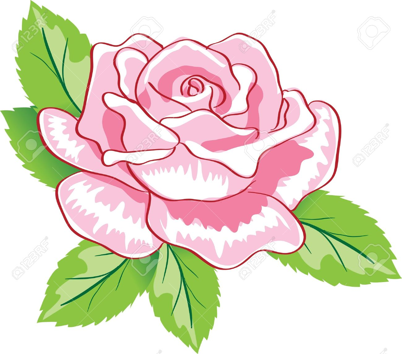 beauty pink rose background. Colorful vector illustration Stock Vector - 9343441