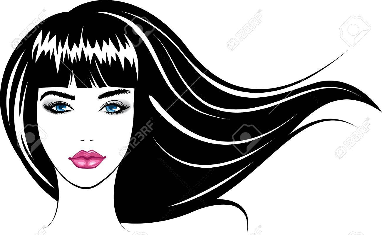 Abstract Beauty Face Girl Colorful Vector Illustration Stock