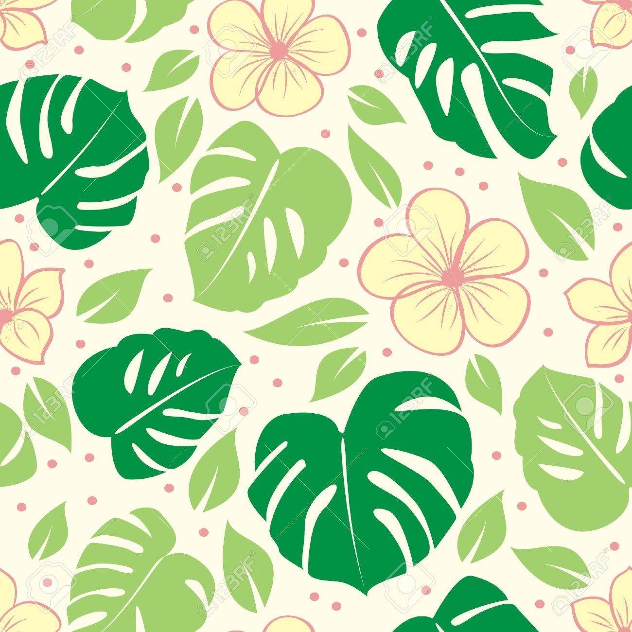 tropical seamless floral background Stock Vector - 9445693