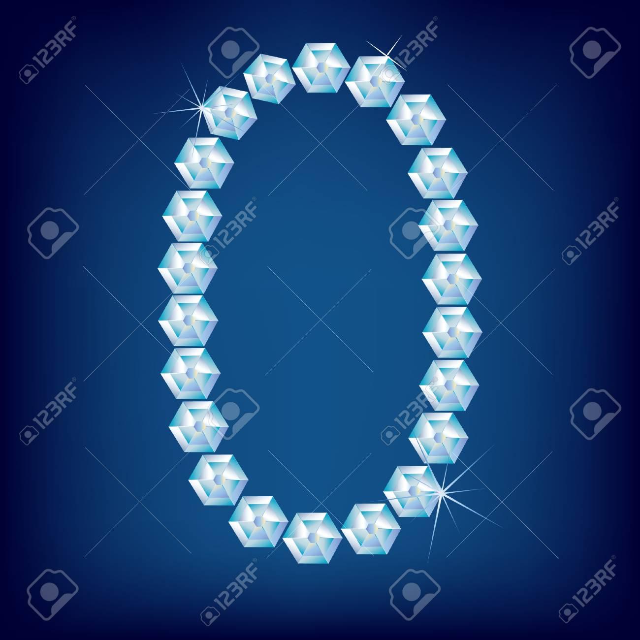 Vector Diamond alphabet. Title letter. Title letter. Stock Vector - 9605900