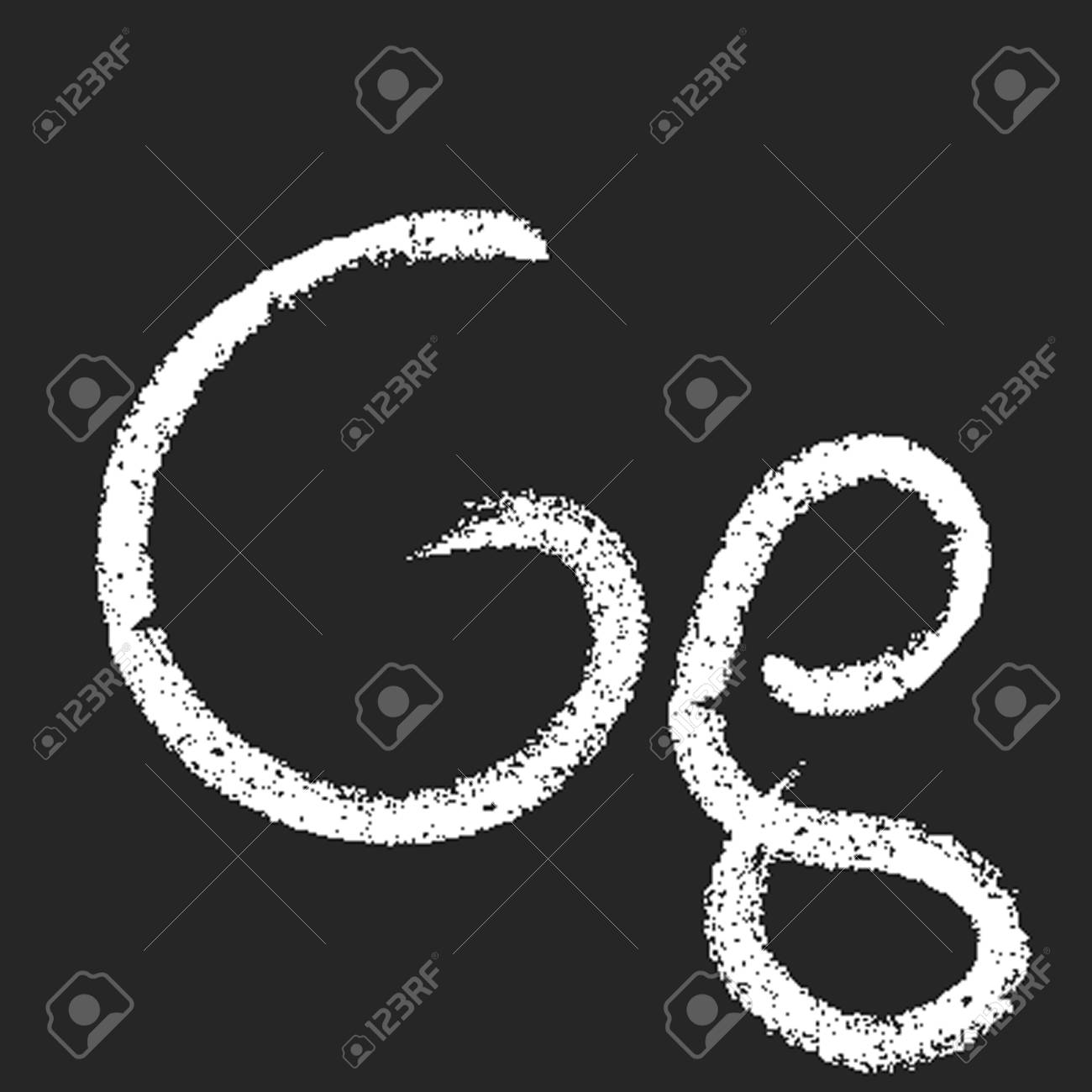 pencil or charcoal chalk alphabet letter. Vector Stock Vector - 9647291