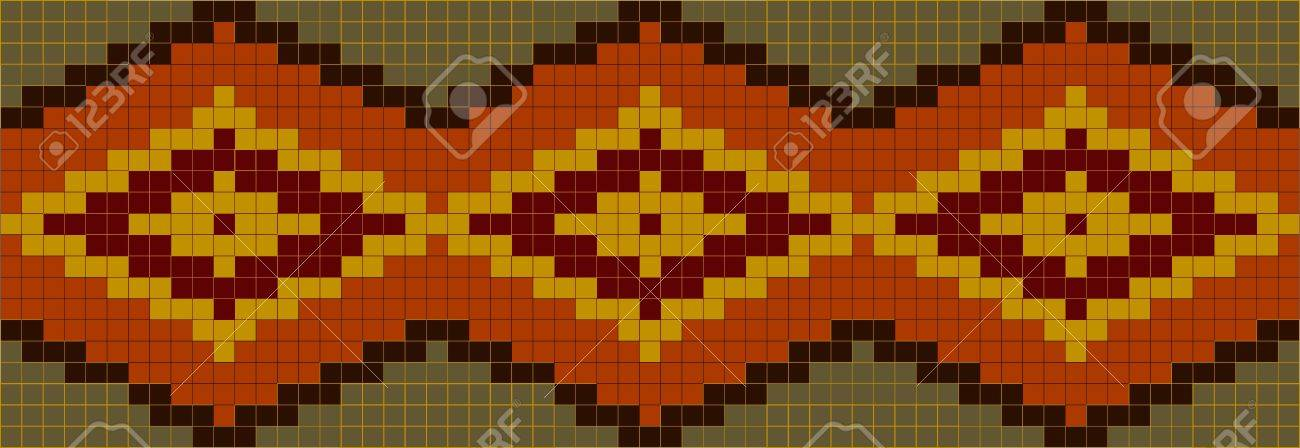 seamless abstract african ethnic ornament. Vector illustration Stock Vector - 9709906