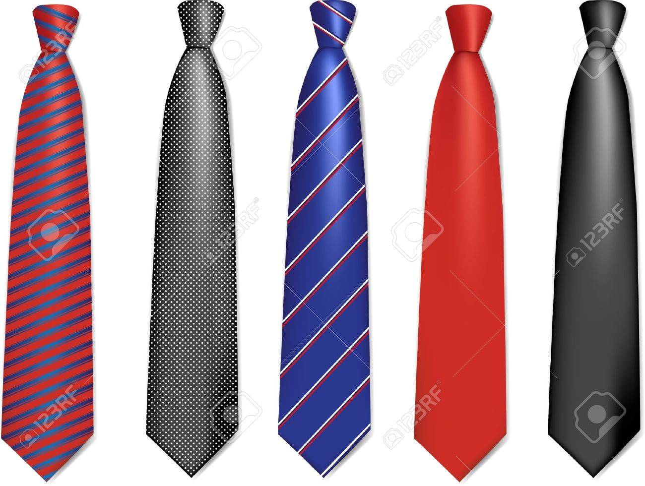 Set of colorful Neck ties collection - 9818346