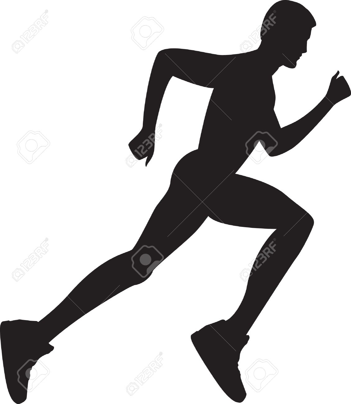 Silhouette of a healthy man running Stock Vector - 10059625