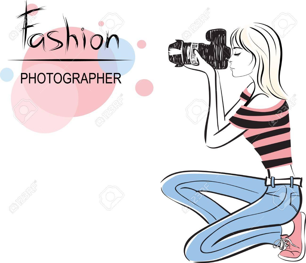 beauty fashion photographer girl Stock Vector - 10542906