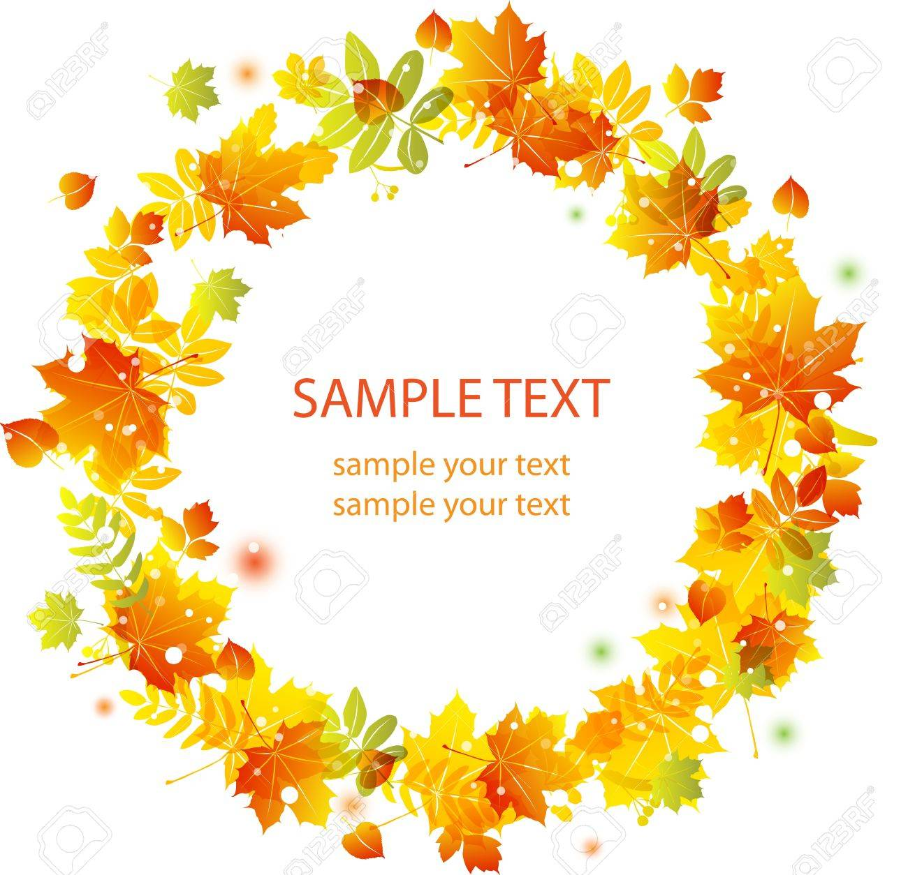 Autumn leaves background. Colorful illustration Stock Vector - 10616416
