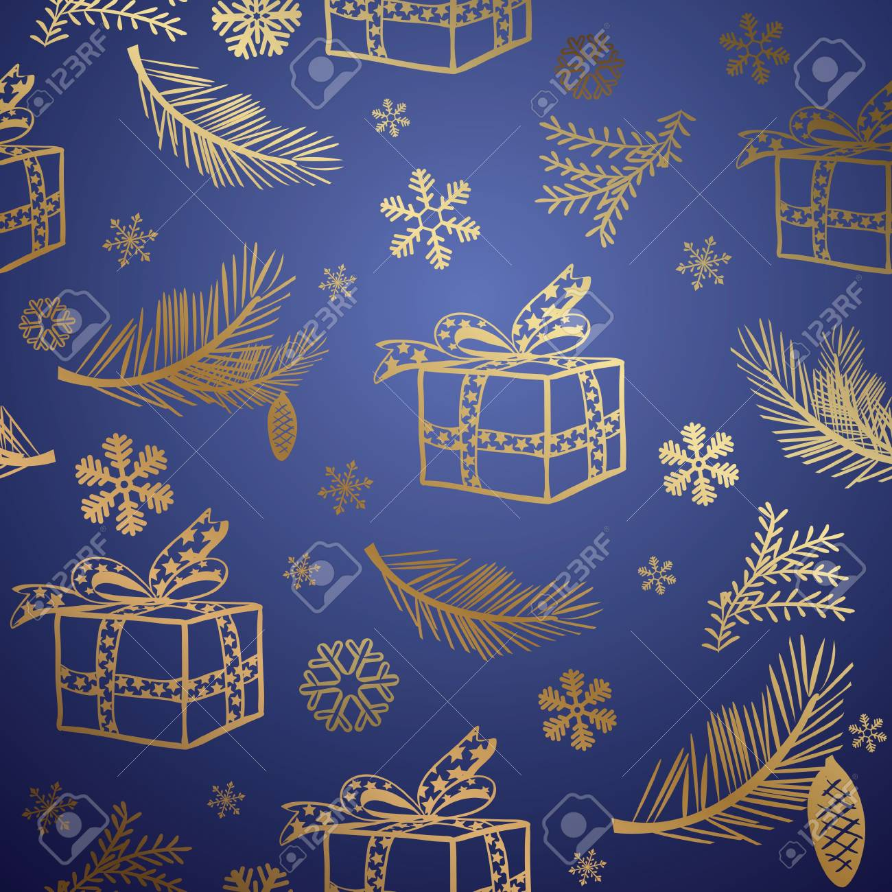 Seamless christmas background. Design element. Stock Vector - 10841663