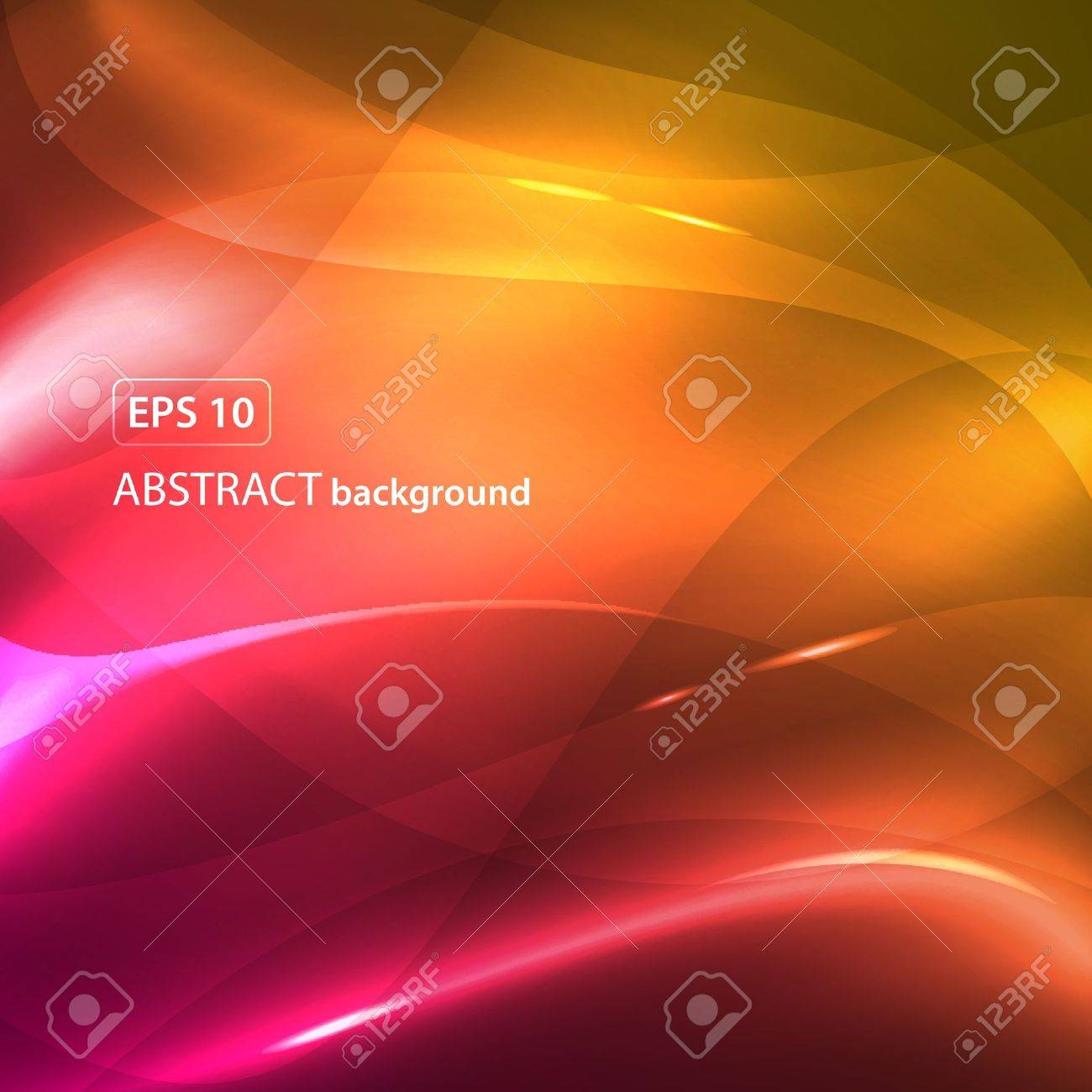Pink yellow abstract waves background. Colorful illustration Stock Vector - 10841666