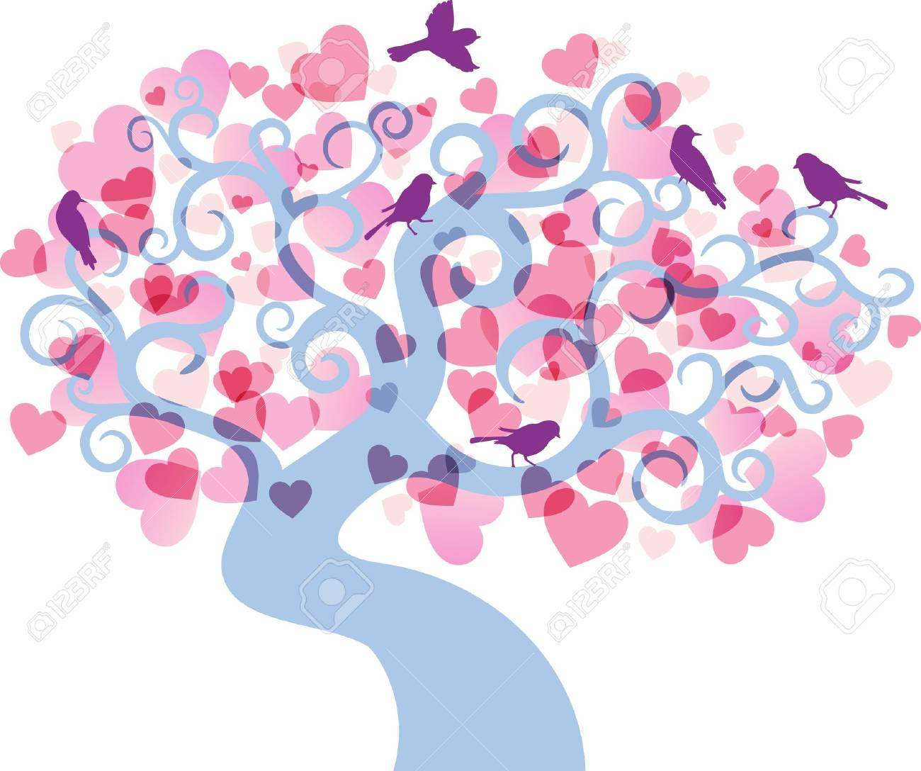 Abstract love tree background. Stock Vector - 11671480