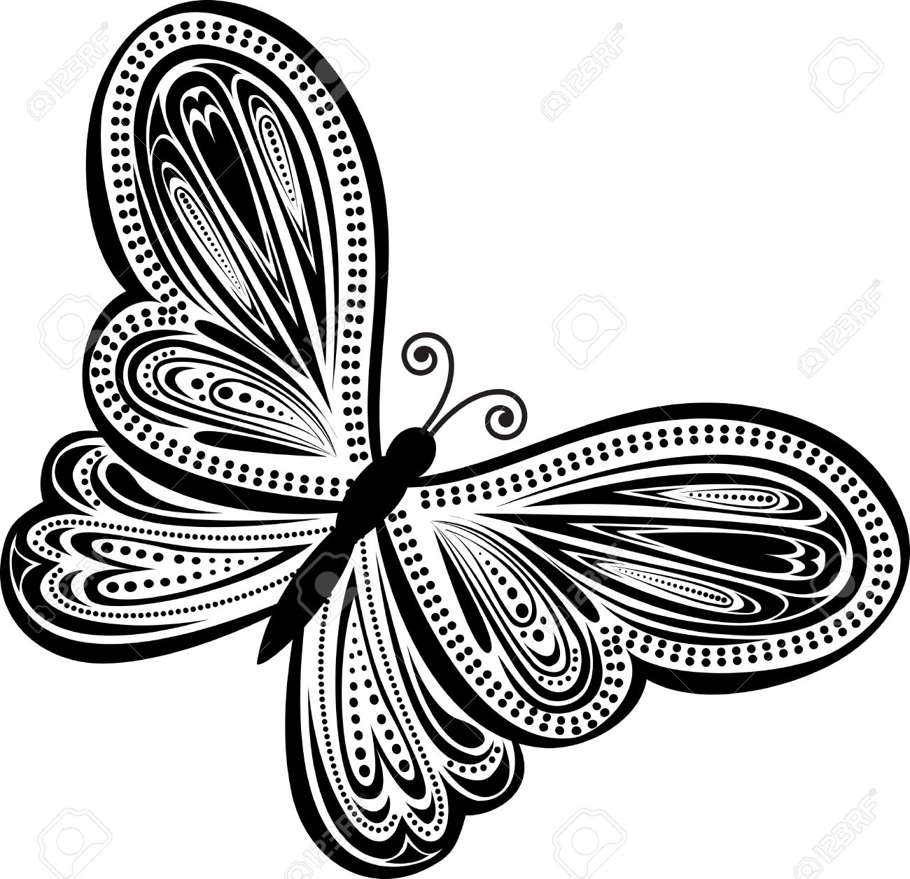 abstract butterfly. Abstract illustration Stock Vector - 12482739