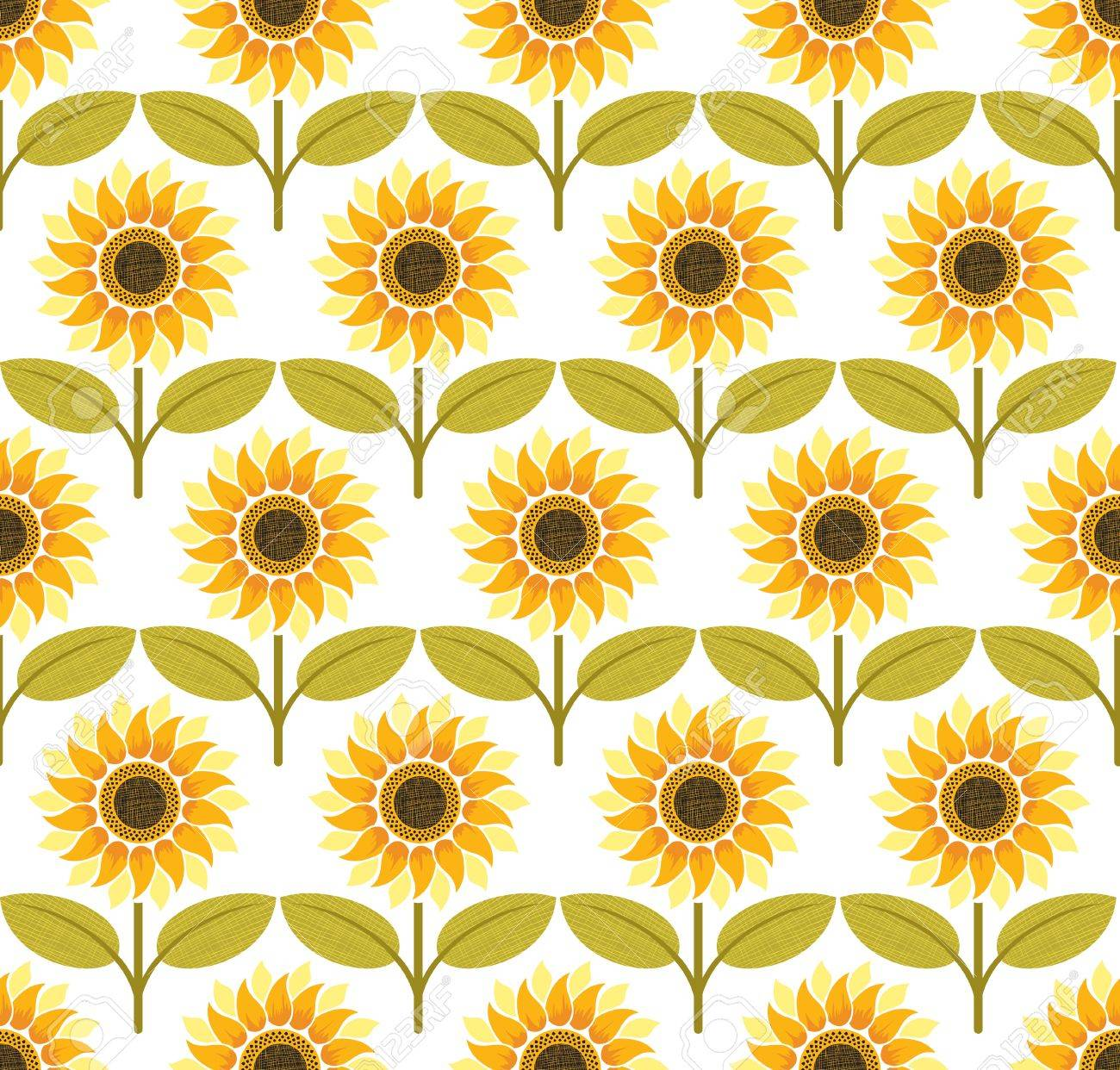 Sunflower background pattern. Colorful illustration Stock Vector - 12482720