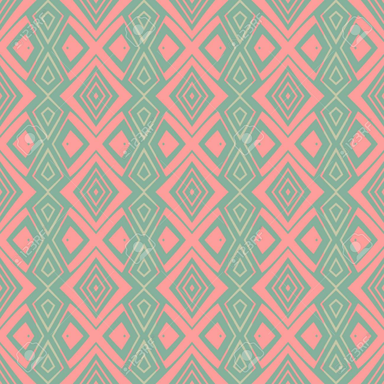 abstract vintage geometric wallpaper pattern seamless background Stock Vector - 14872958