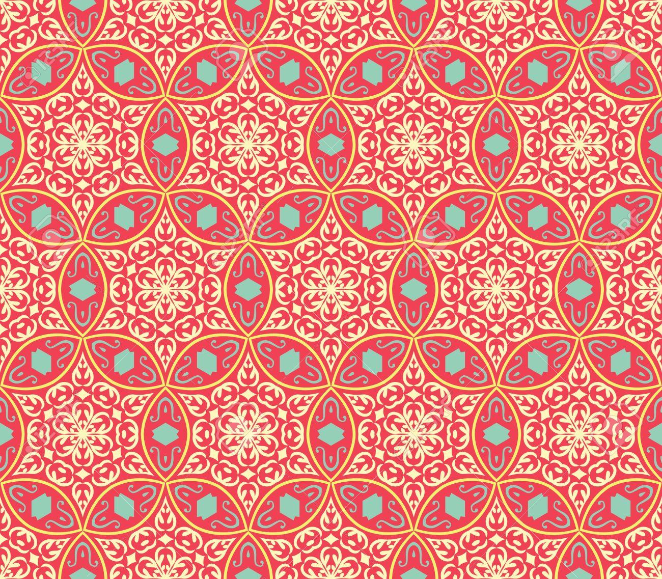 Ethnic Modern Geometric Seamless Pattern Ornament Background ...