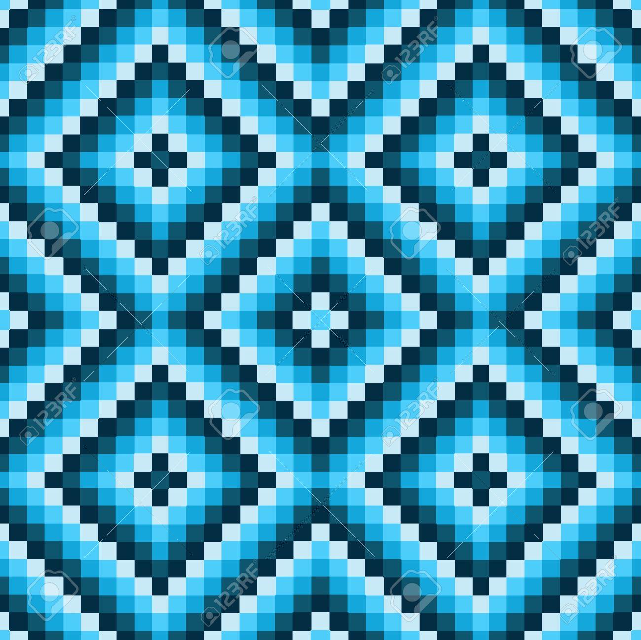 Pixel Modern Geometric Seamless Pattern Ornament Background Print ...