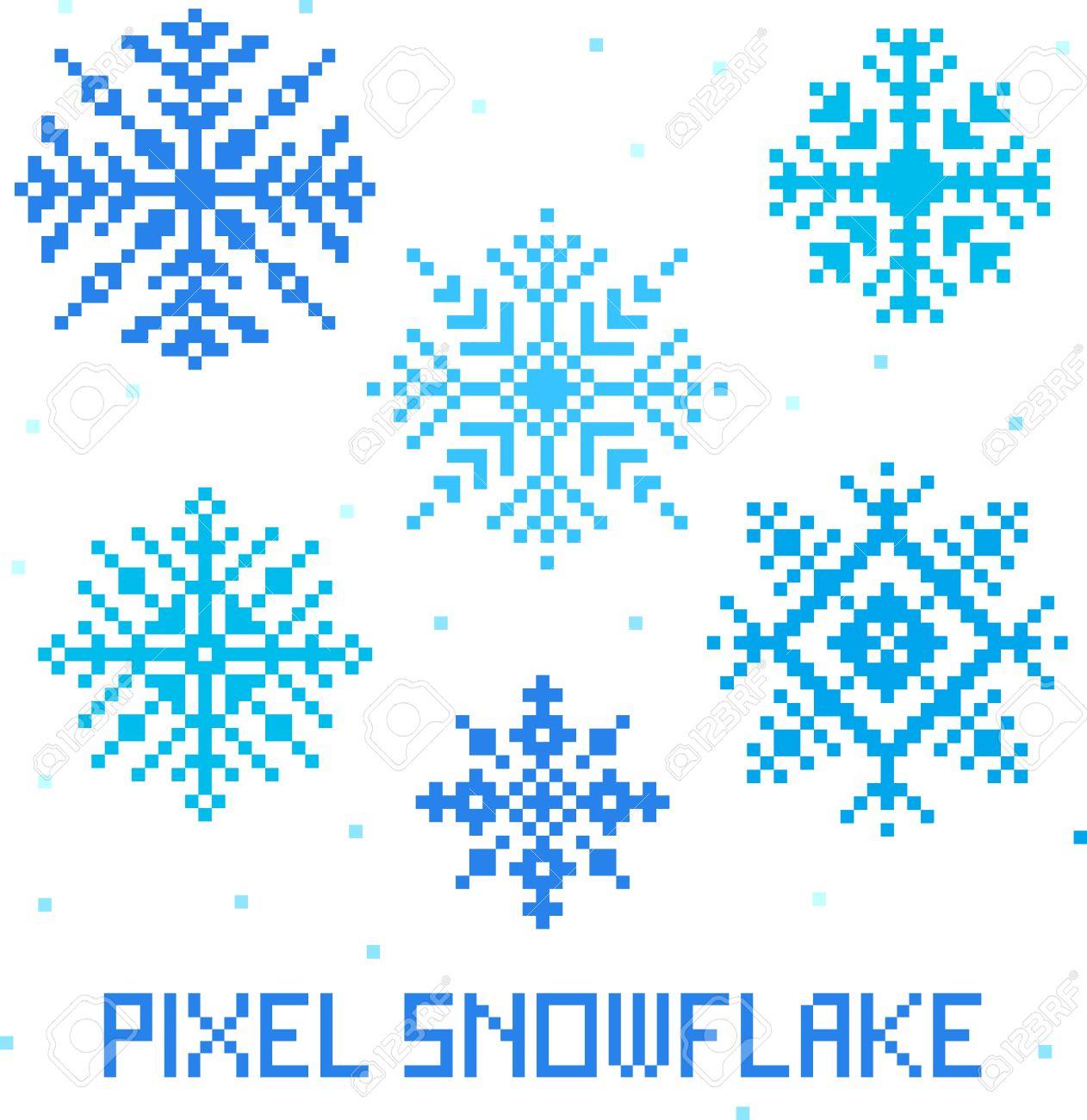 Christmas Winter Pixel Art Modern Geometric Seamless Pattern ...