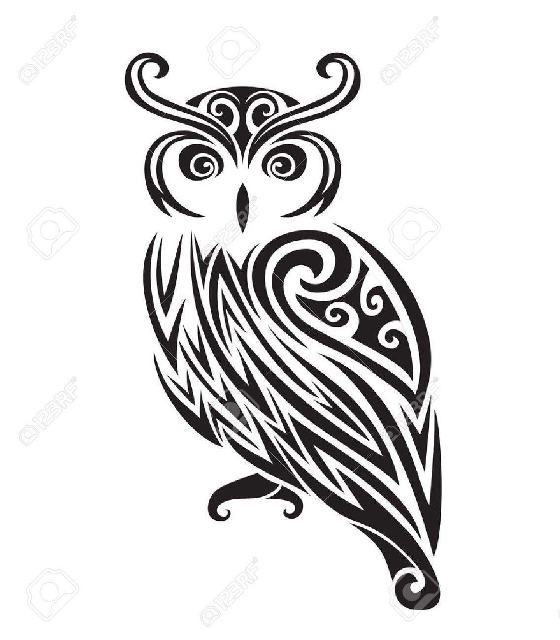 7,162 Owl Silhouette Stock Vector Illustration And Royalty Free Owl ...