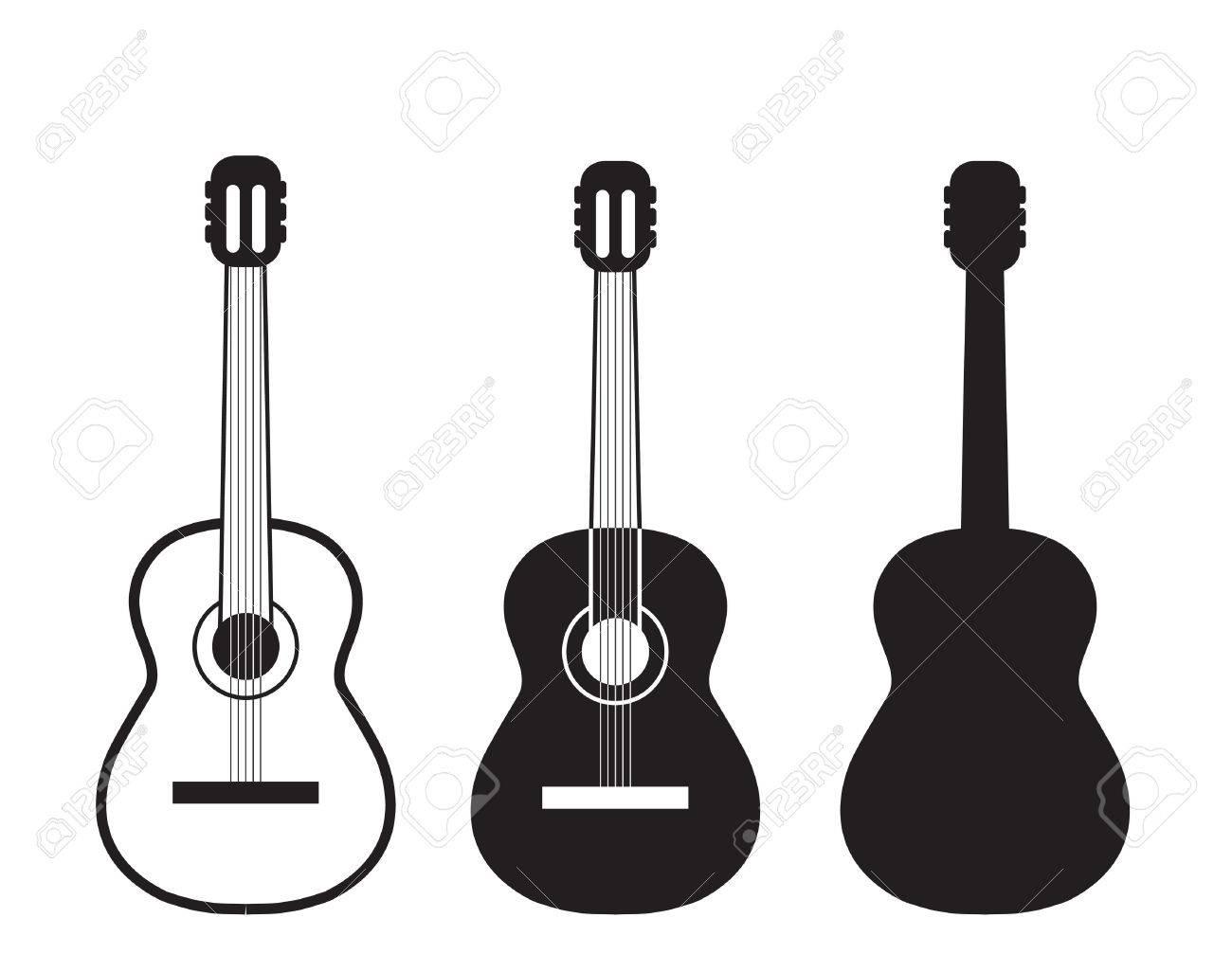 set guitars symbol royalty free cliparts vectors and stock