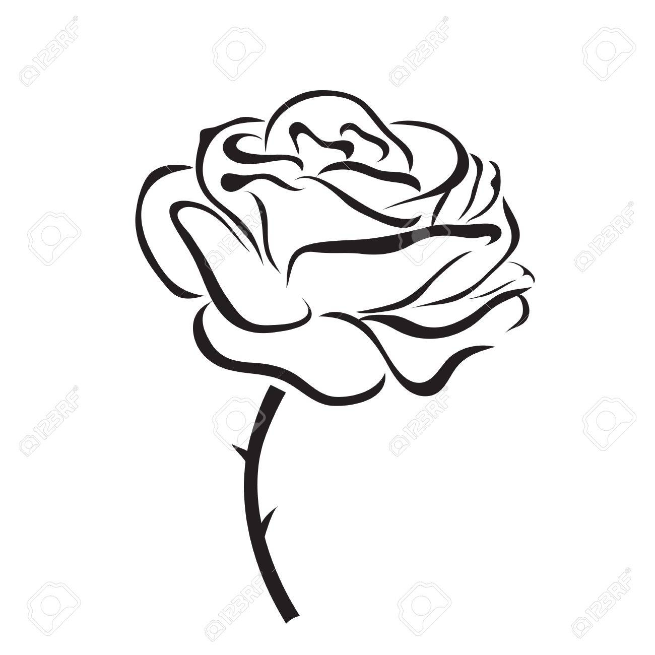 Rose Vector Icon Royalty Free Cliparts Vectors And Stock