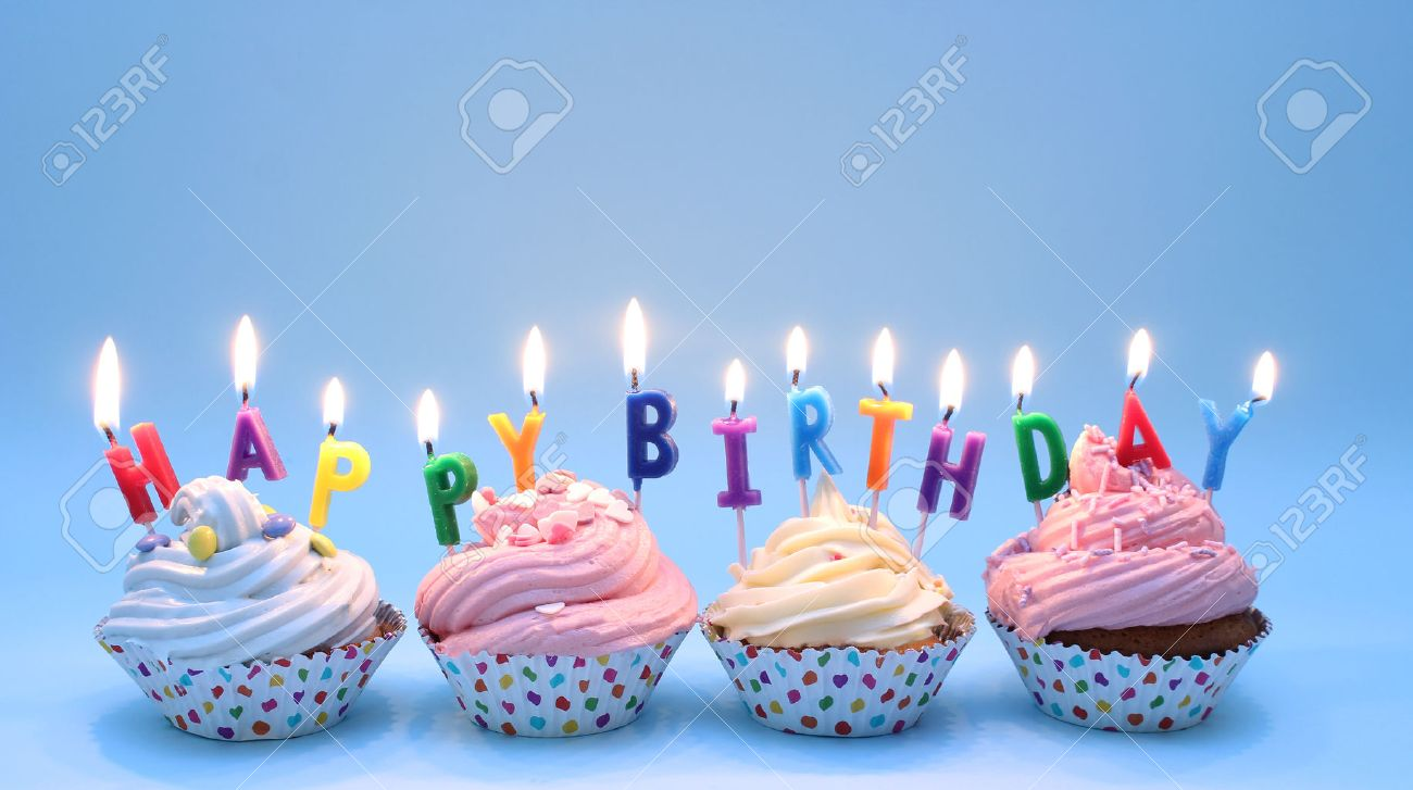 Tremendous Happy Birthday Cupcakes Stock Photo Picture And Royalty Free Funny Birthday Cards Online Eattedamsfinfo