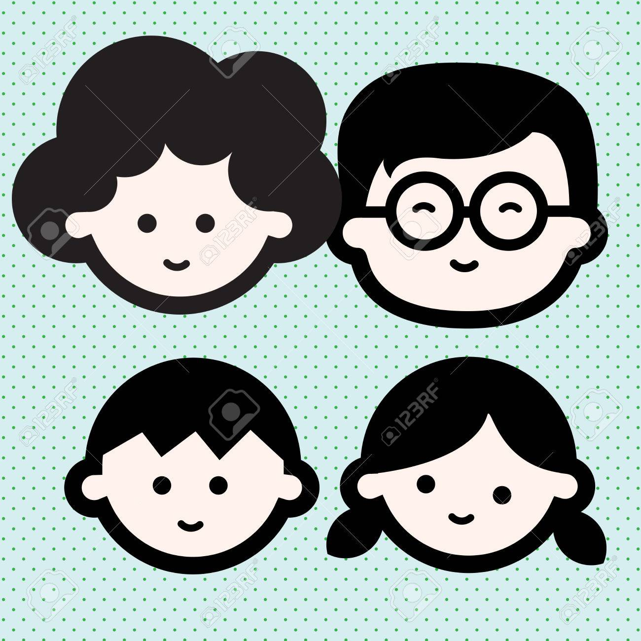 Happy Family Picture Captured 4 Members Papa Mama Boy And Girl Royalty Free Cliparts Vectors And Stock Illustration Image 77923973