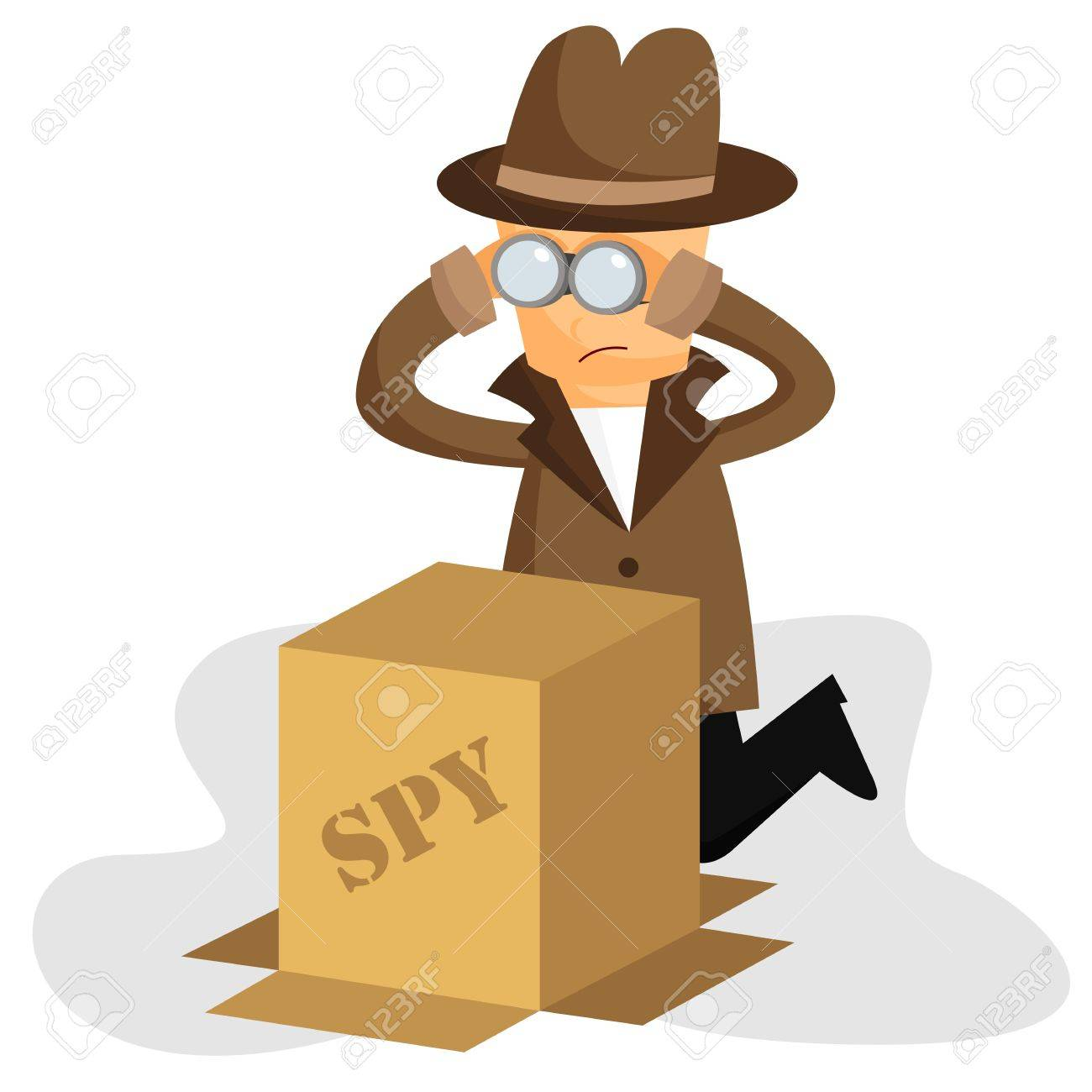 Spying Stock Vector - 20694452