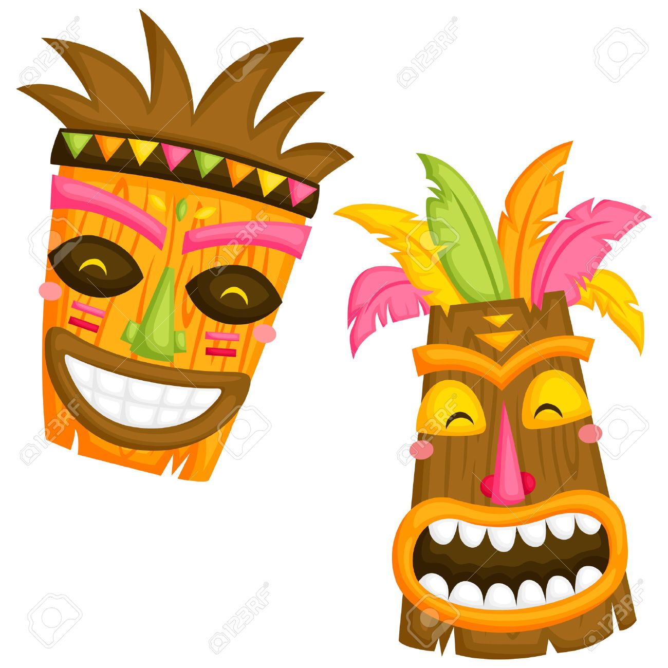 luau mask royalty free cliparts vectors and stock illustration