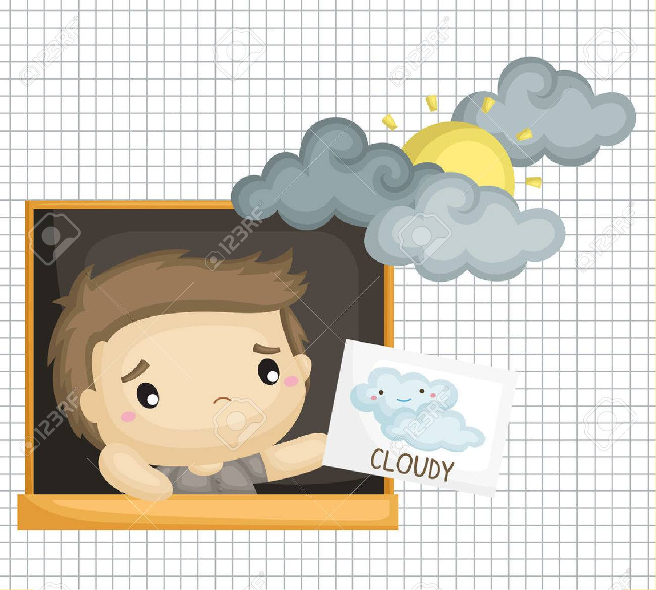 cloudy weather royalty free cliparts vectors and stock