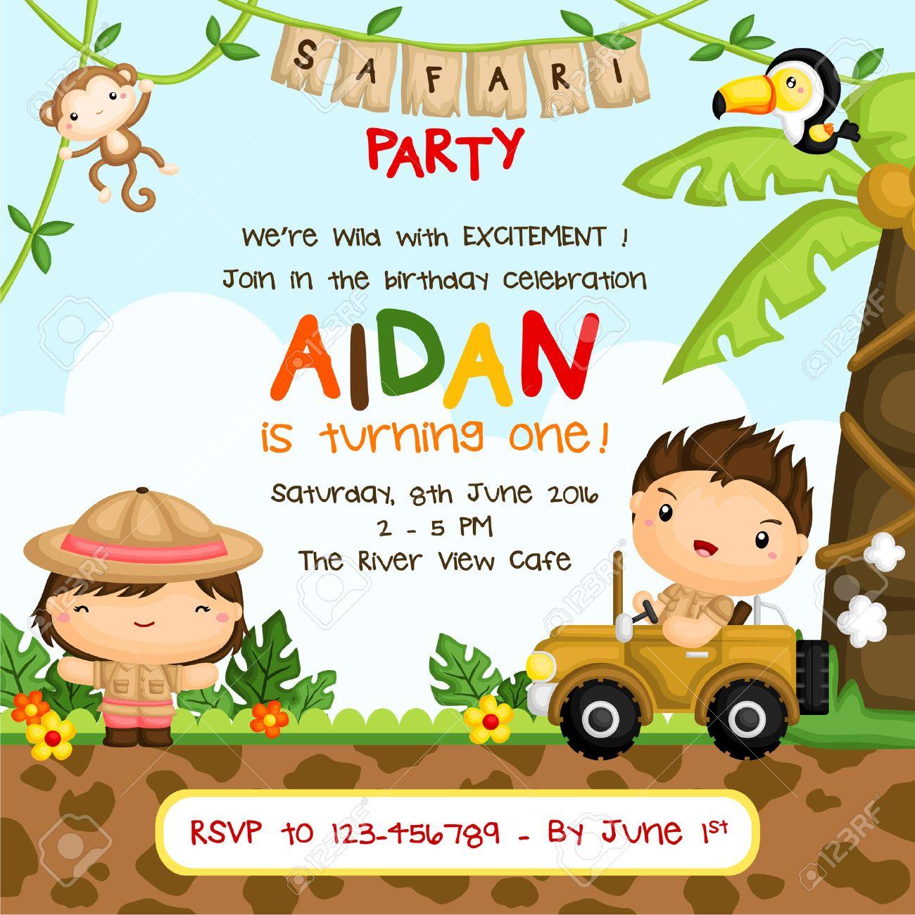 Safari Kids Birthday Invitation - 50982907