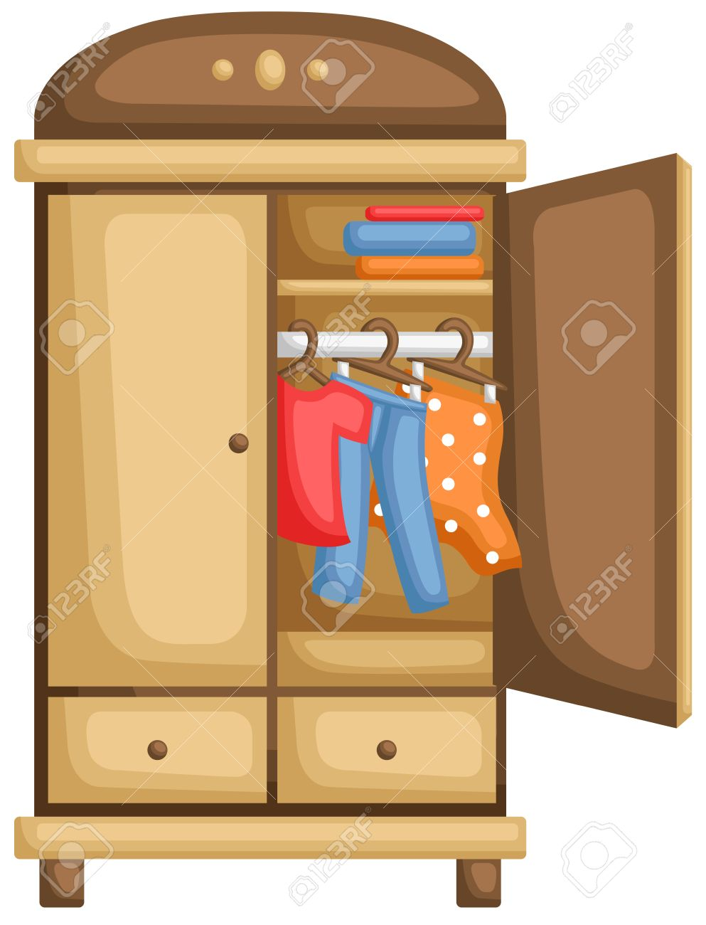 Wardrobe clipart  Wardrobe For Clothes Royalty Free Cliparts, Vectors, And Stock ...
