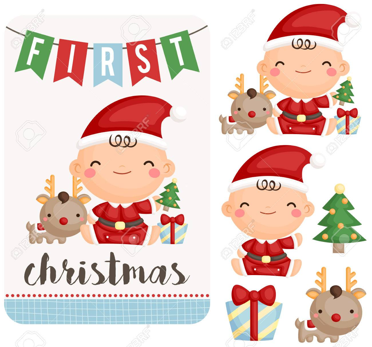 Baby Boy First Christmas Set - 54922296