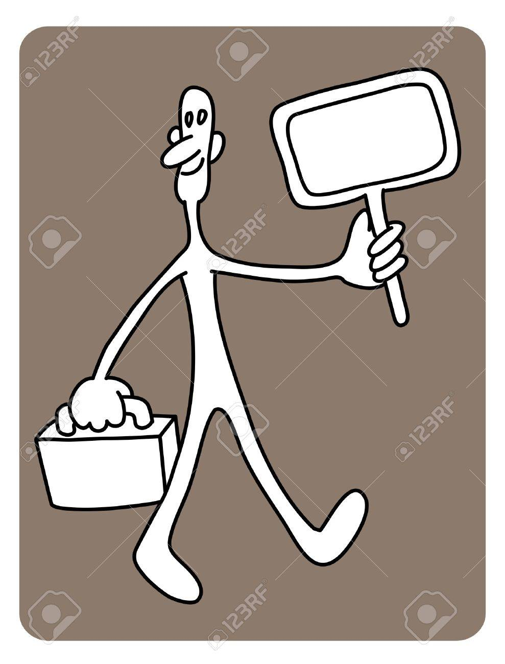 Man want to find job Stock Vector - 12284596