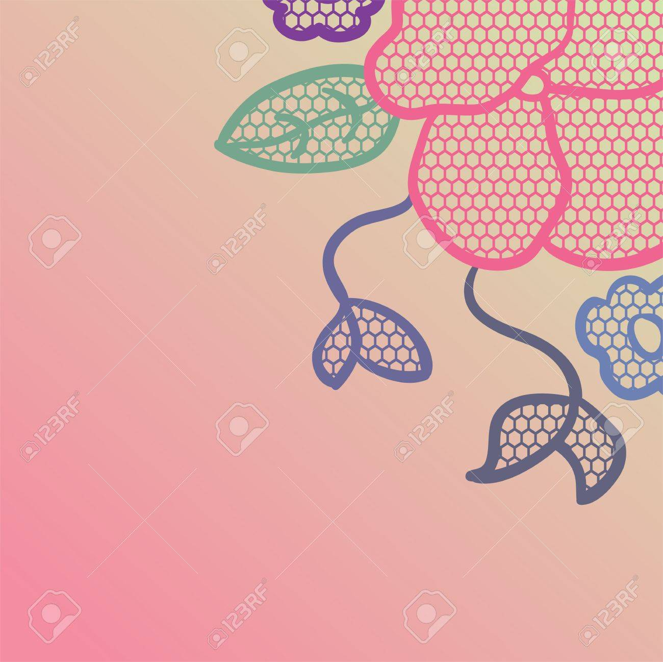 Lace pattern background Stock Vector - 13801753